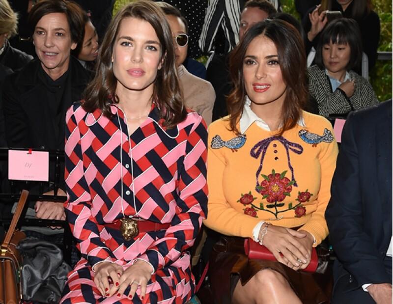 Carlota Casiraghi y Salma Hayek en Gucci.