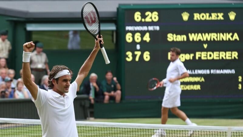 Roger Federer cuartos de final Wimbledon 2014 Wawirinka