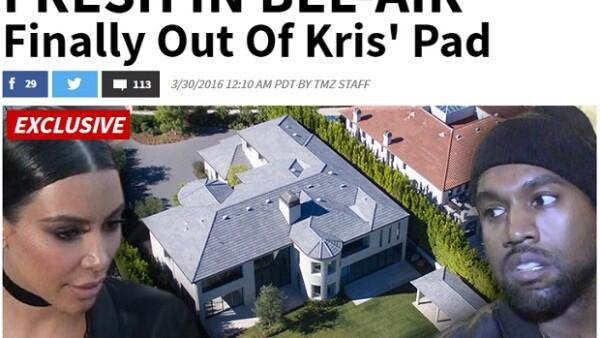 Después de casi tres años, la estrella de reality y Kanye West finalmente pudieron mudarse a la casa de 11 millones de dólares que compraron en 2013.