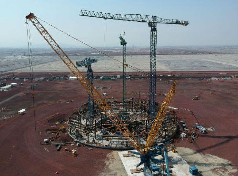 construcci�n del Nuevo Aeropuerto