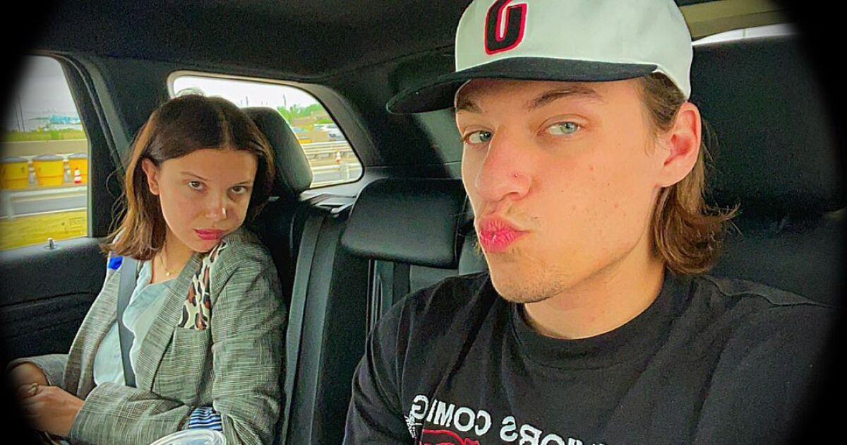 Photos confirm Millie Bobby Brown's romance with Bon Jovi's son