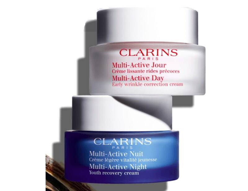Cremas de la colección Multi/Active de Clarins.