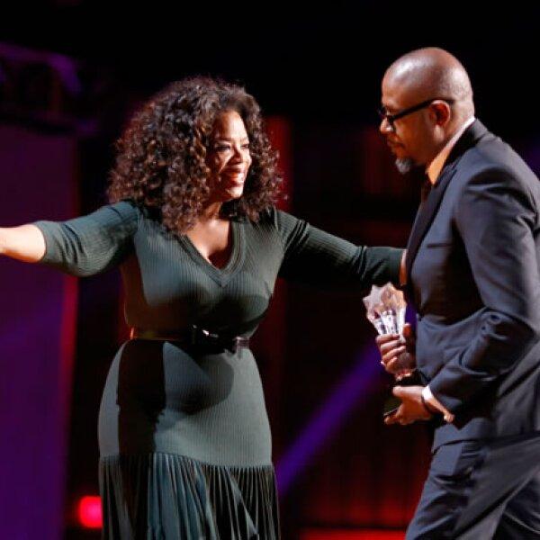 Oprah Winfrey y Forest Whitaker.