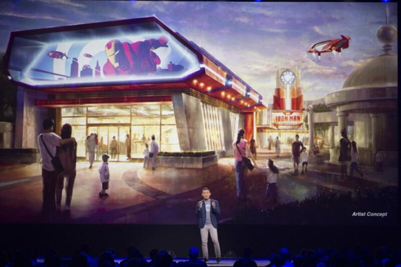Presentación del concepto de la Iron Man Experience durante la D23.
