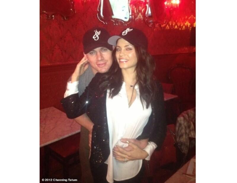 Channing Tatum feliz al lado de su mujer Jenna Dewan-Tatum