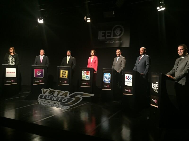 Los candidatos a la gubernatura participaron en el último debate de cara a los comicios del 5 de junio.
