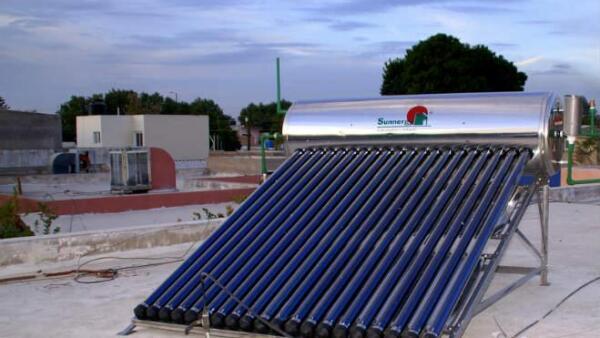 Vivienda calentador solar