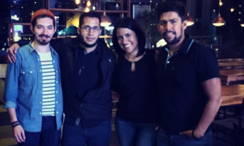 El equipo de Talentia (de izq. a der.) Edward Bentinck, H.J. Barraza, Natalia Ibañez y Miguel Ángel Ramírez.  (Foto: Cortesía Talentia )