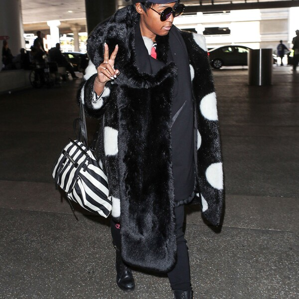 Janelle Monae at LAX International Airport, Los Angeles, USA - 06 Mar 2018
