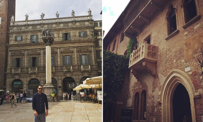 Actualmente los novios se encuentran en Verona, donde apenas comienzan la aventura en su paso por Italia.