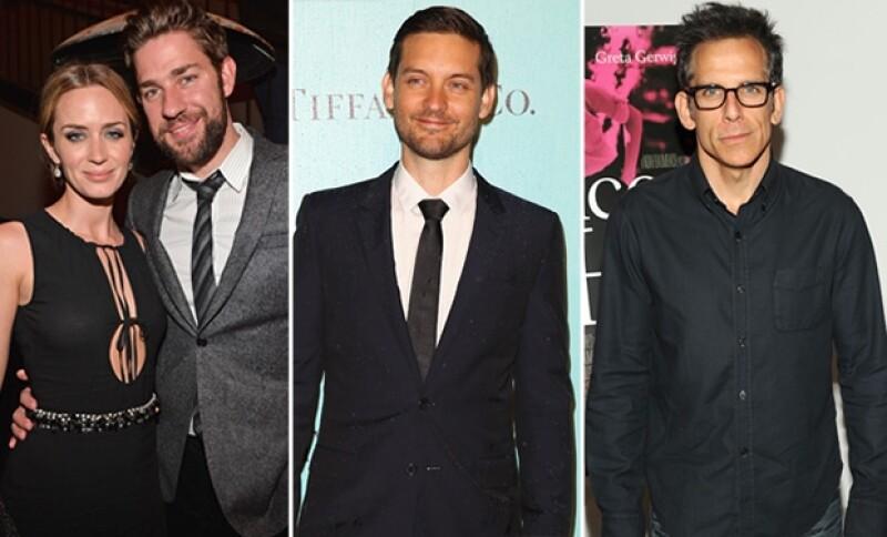 Emily Blunt, John Krasinsky, Tobey Maguire y Ben Stiller fueron algunas de las celebs que asistieron a la fiesta.