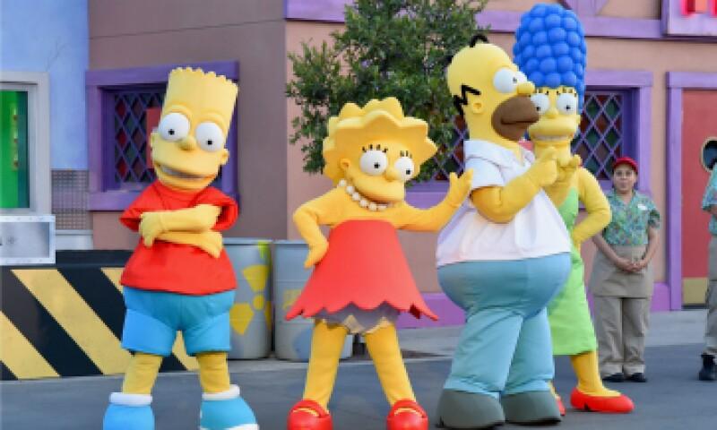 Los Simpson ya tienen un hogar permanente en Universal Studios en Hollywood. (Foto: AFP )