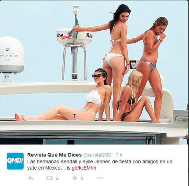 Kendall y la modelo Gigi Hadid se sumaron a los festejos en la playa de Kylie.