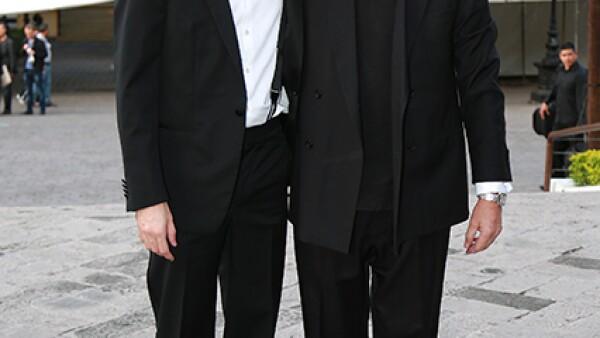 Rodrigo Padilla y Padre Peter Coates