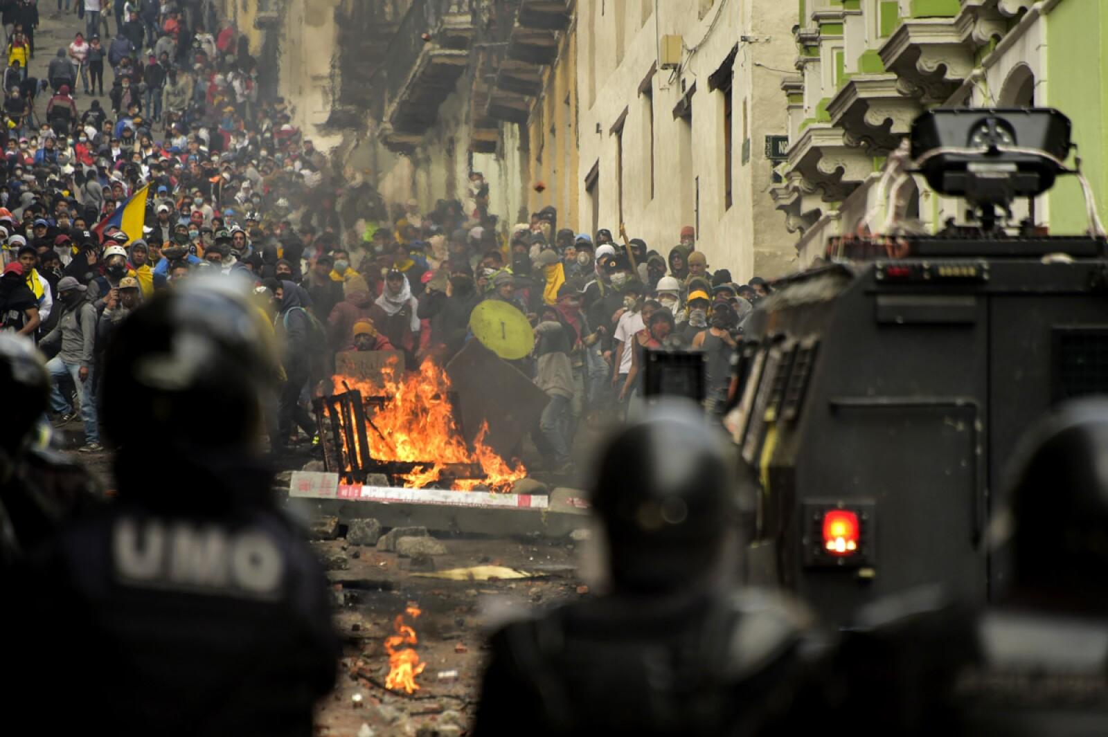 ECUADOR-ECONOMY-IMF-OIL-PROTEST-MARCH