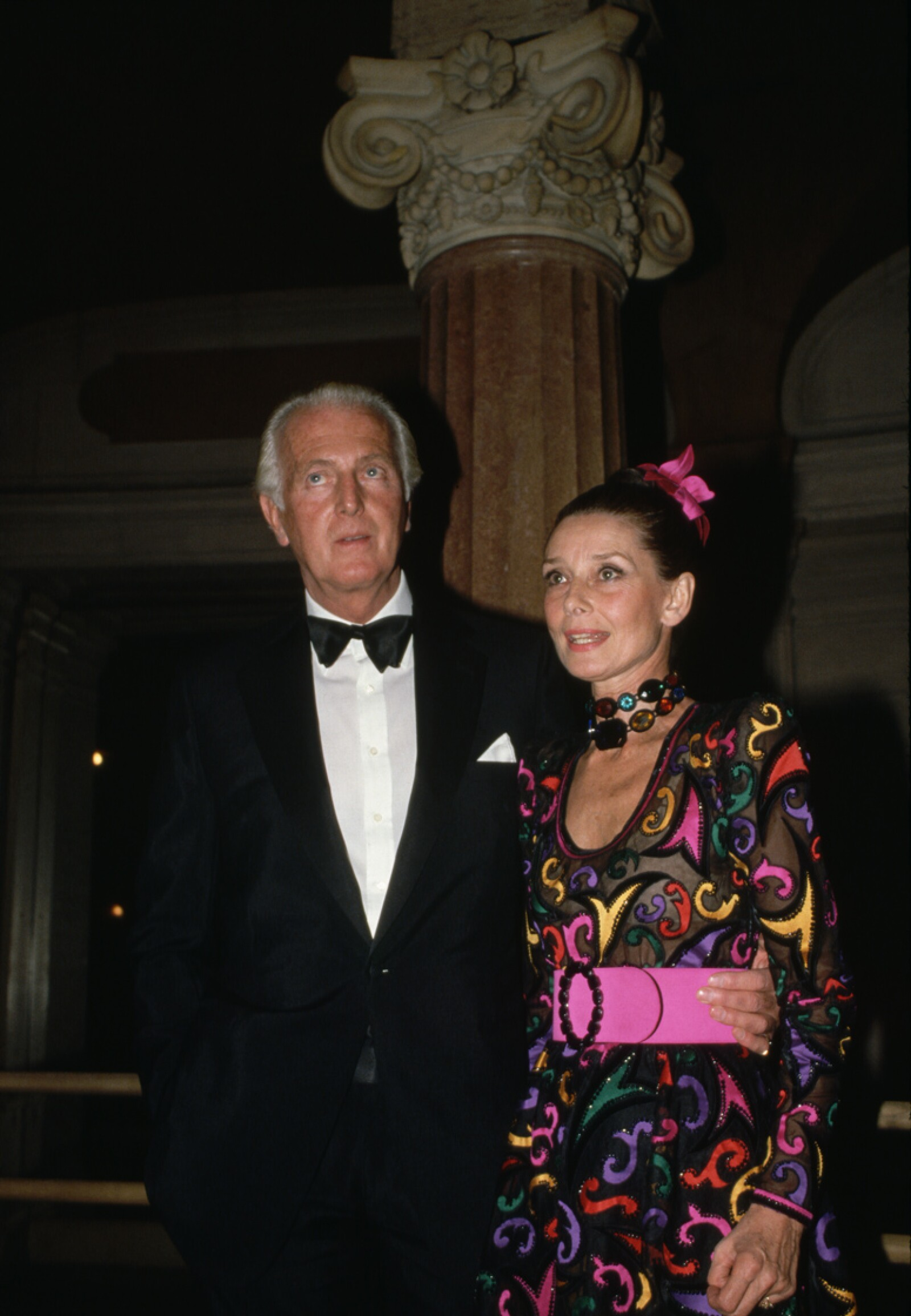 Hubert de Givenchy and Audrey Hepburn