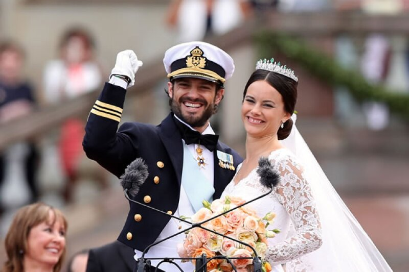 El príncipe Carlos Felipe de Suecia se casó con Sofía Hellqvist el 13 de junio.