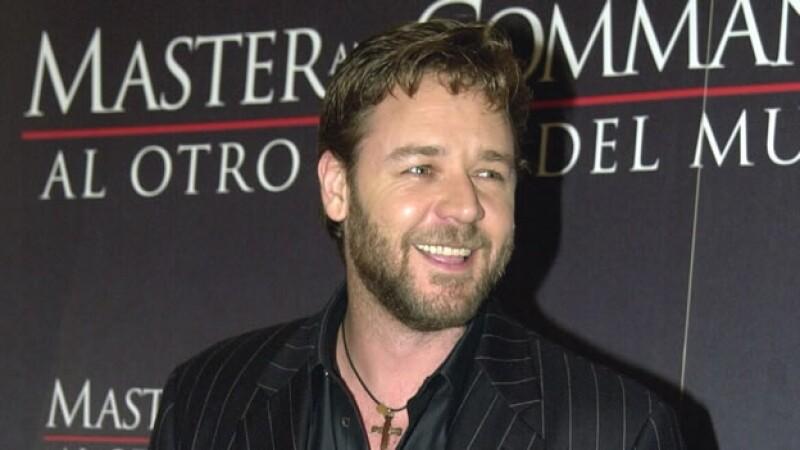Russell Crowe presenta su pelicula en España