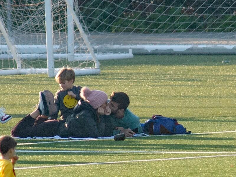Sasha, Shakira, Gerard y Milan Piqué