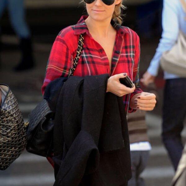 Lauren Conrad de la serie `The Hills´ adora las bolsas acolchadas.