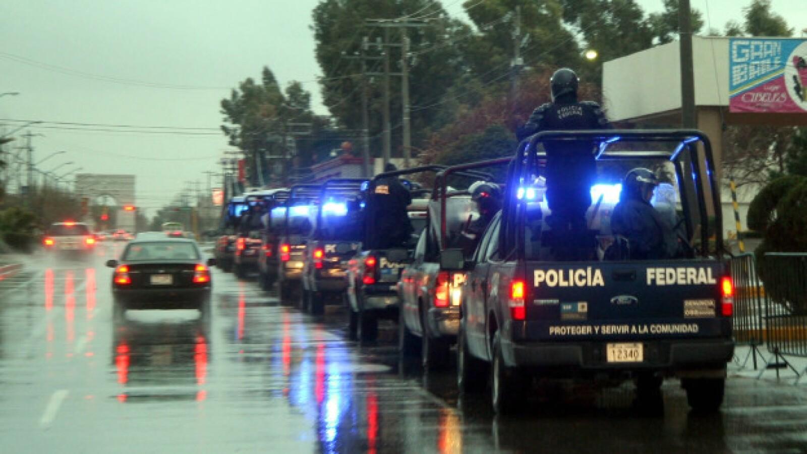 Segurida en Ciudad Juarez para visita de Calderon