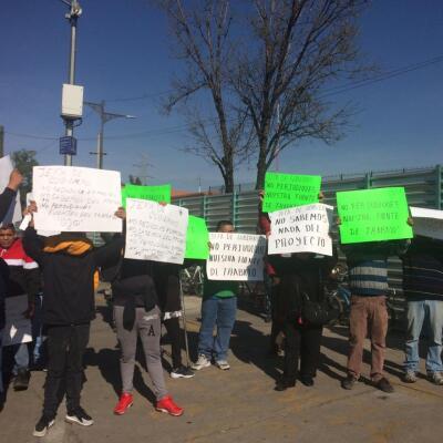 Protestas contra el Cablebús
