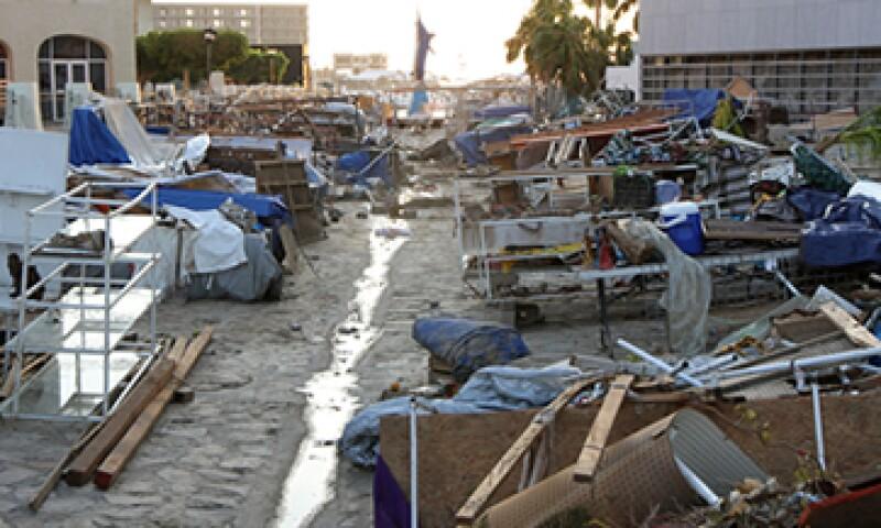 El paso del huracán Odile afectó varios hoteles y establecimientos comerciales. (Foto: Notimex)