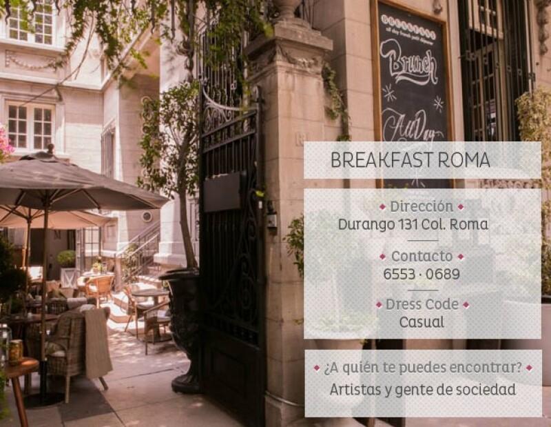 Breakfast tiene un aire europeo-campirano