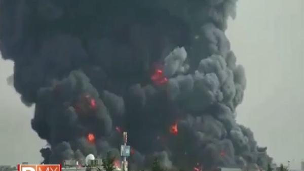 Incendio en una fábrica de telas de Toluca obligó al cierre del aeropuerto