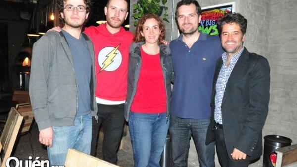 Daniel Cubric, Alberto Mohamed, Leonor Molina, Alfonso Tamés y Felipe Fernández del Paso