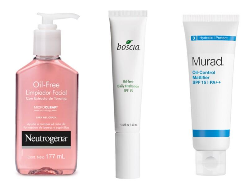 Para piel grasa, recomendamos estos productos.
