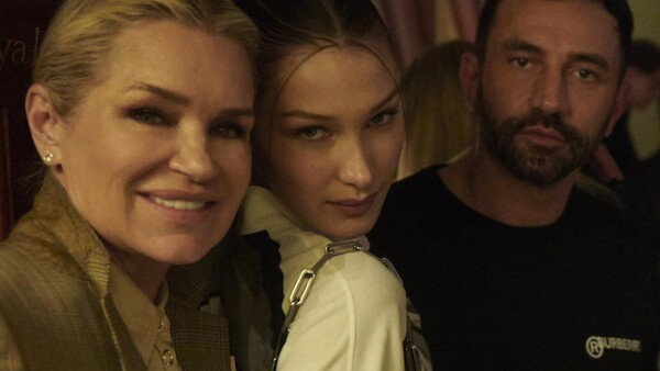 Yolanda Hadid, Bella Hadid and Riccardo Tisci at a Burberry Autumn_Winter 2020 Party.jpg