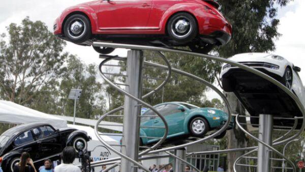 Planta de Volkswagen en Puebla, exhibici�n de autos