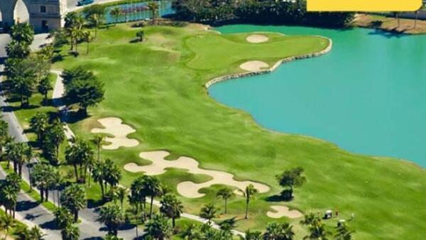 Campo de golf-pleca