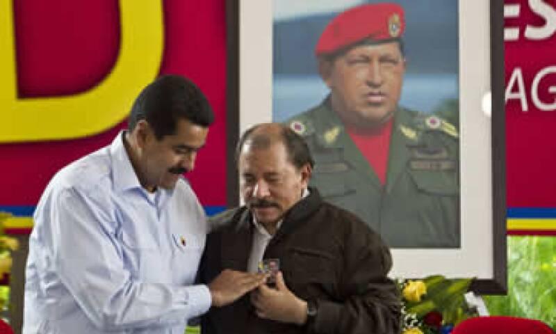 Los presidentes de Venezuela, Nicolás Maduro (i), y el de Nicaragua, Daniel Ortega (d), en la cumbre. (Foto: AP)