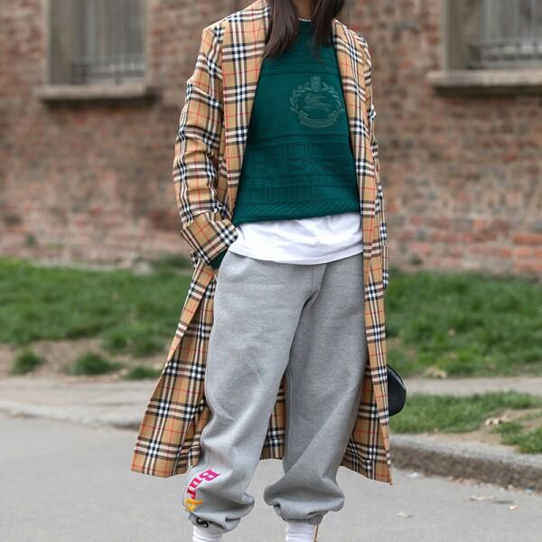 Street Style, Fall Winter 2018, Milan Fashion Week, Italy - 21 Feb 2018