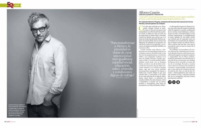 Alfonso Cuarón es cineasta.
