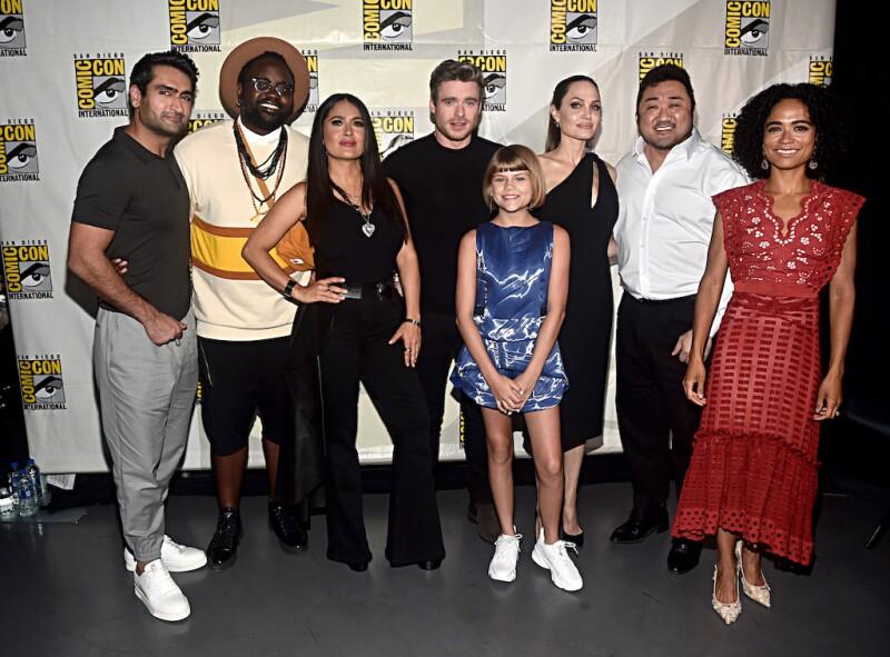 El elenco de la nueva película 'The Eternals'.