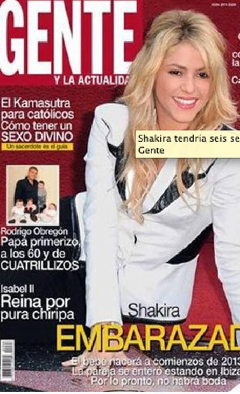 La revista Gente de Argentina publicó unas nuevas imágenes de la cantante  sobre su estado de gestación.