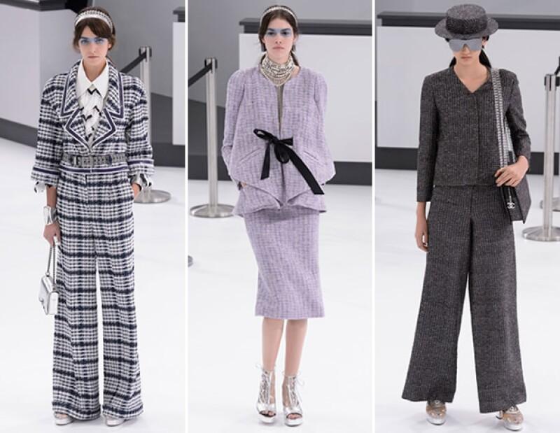 El tweed reapareció en la pasarela de Chanel.