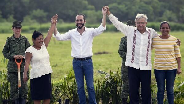 MEXICO-EL SALVADOR-MIGRATION-LOPEZ-OBRADOR-BUKELE