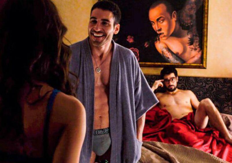 El actor mexicano en una escena de Sense8, la serie de Netflix en la que participa.