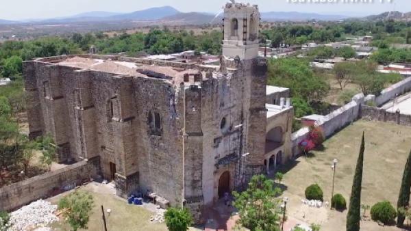 EU se suma a la recuperación de un convento en Puebla que resultó dañado el #19S