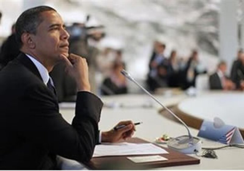 El presidente estadounidense, Barack Obama, participa en una sesión de la cumbre del G8 en Italia. (Foto: Reuters)