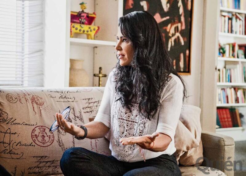 Vimos a Lydia en casa del escritor Alberto Ruy Sánchez. Por seguridad, ella no da entrevistas en su hogar.