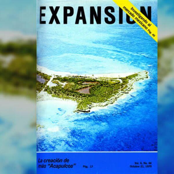En la década de los setenta, Cancún, es el centro atención al dejar de ser una isla desierta para convertirse en uno de los destinos turísticos más importantes de México.