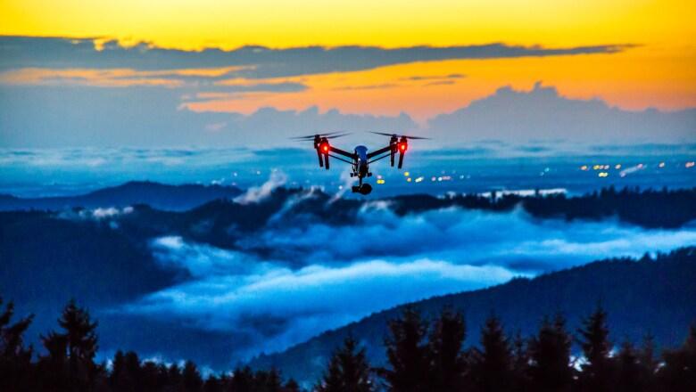 El ojo de un drone