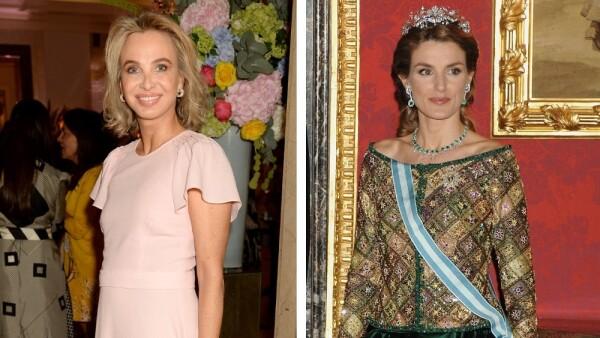Corinna Larsen y la reina Letizia de España