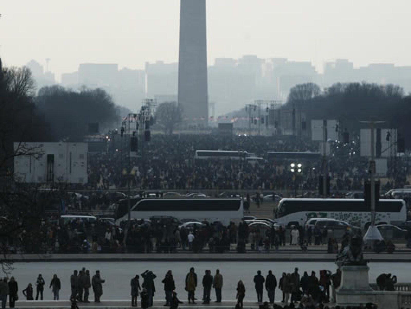 Es probable que un millón de personas llegue hasta el National Mall, una verde plaza rodeada de museos y monumentos.