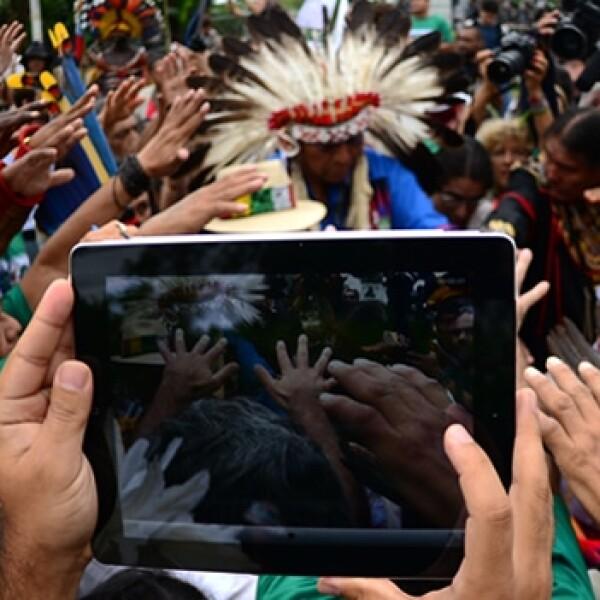 cambio climatico, iPad, tecnologia, indigenas, amazonas, educacion, tableta, brasil